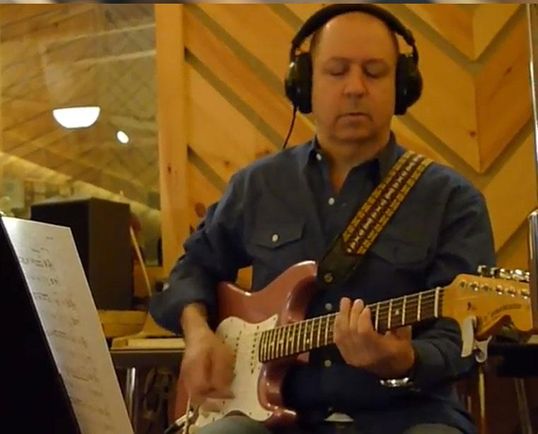Greg Skaff in the recording studio
